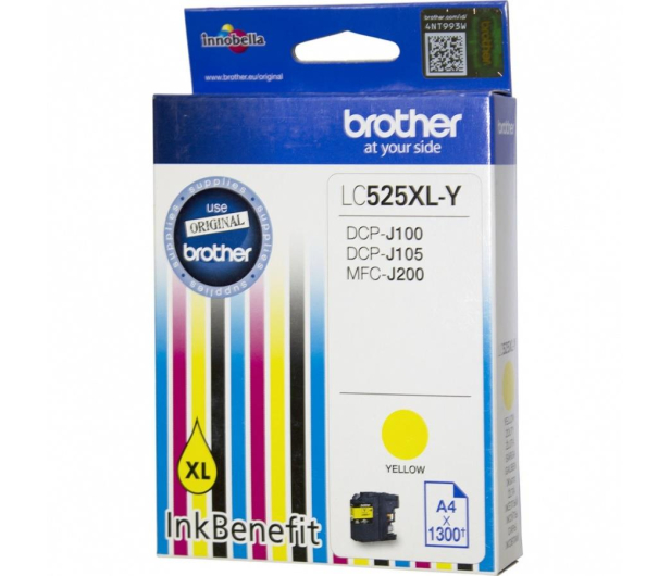 Brother LC525XLY yellow 1300str. - 180538 - zdjęcie