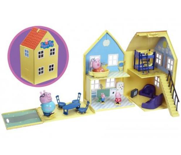 TM Toys Świnka Peppa Domek deluxe z 4 figurkami - 206837 - zdjęcie 5