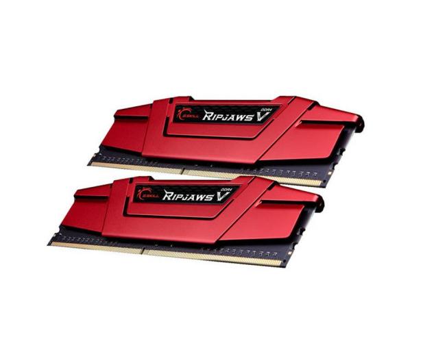 G.SKILL 8GB (2x4GB) 2400MHz CL15 RipjawsV Red  - 251176 - zdjęcie 2