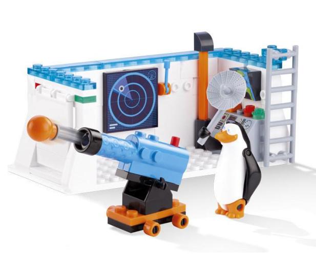 Cobi Pingwiny Z Madagaskaru Baza Kontrolna Wiatru Pn Klocki Sklep Internetowy Al To