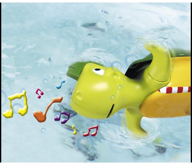 TOMY Toomies Pływający żółw śpiewak - 242898 - zdjęcie 5