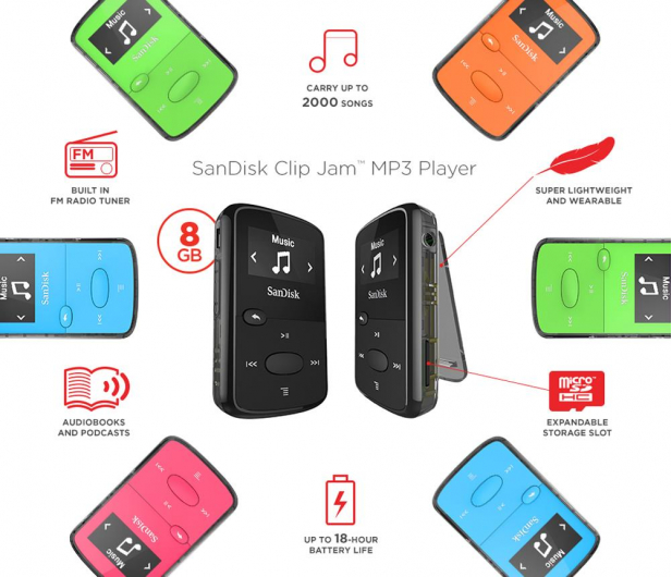 SanDisk Clip Jam 8GB zielony - 251396 - zdjęcie 3