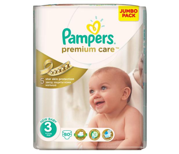 Pampers Premium Care 3 Midi 4-9kg 80szt - 259779 - zdjęcie