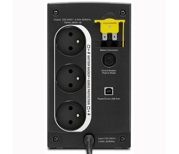 APC Back-UPS (700VA/390W, 3xFR, USB, AVR) - 260372 - zdjęcie 2