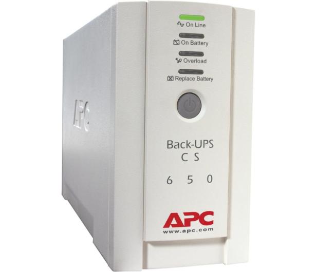 APC BACK-UPS CS (650VA/400W, 4xIEC, 2xRJ-45, AVR) - 260370 - zdjęcie