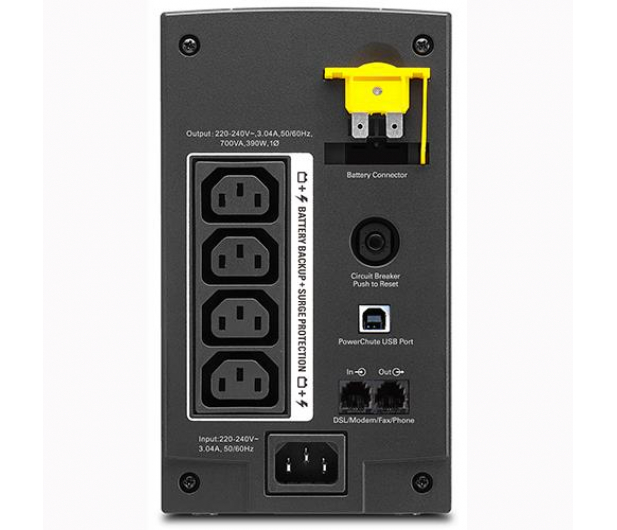 APC Back-UPS (700VA/390W, 4xIEC, RJ-45,USB, AVR) - 260374 - zdjęcie 2