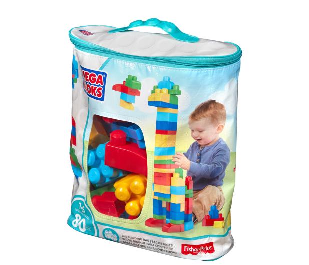 Mega Bloks Klocki 80 el torba niebieska NEW - 331359 - zdjęcie