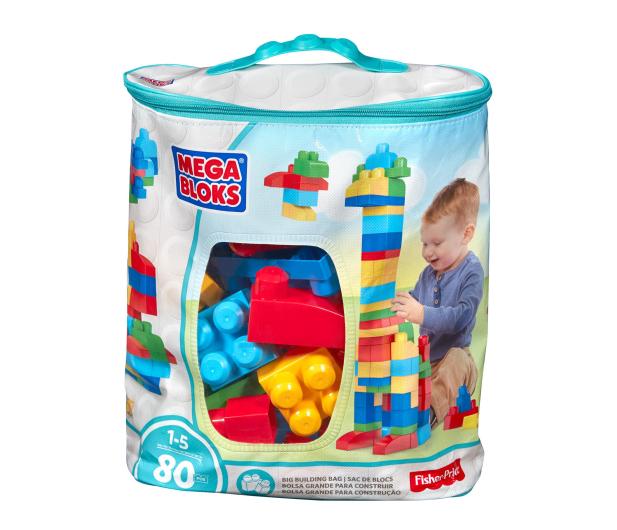 Mega Bloks Klocki 80 el torba niebieska NEW - 331359 - zdjęcie 3