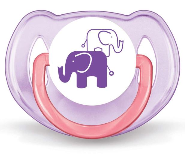 Philips Avent Smoczek Ortodontyczny 6-18m+ 2szt Różowy - 329116 - zdjęcie 2