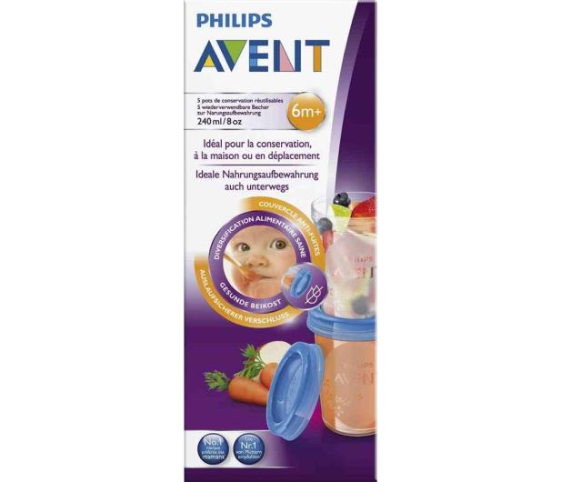 Philips Avent Pojemniki Na Pokarm VIA 240ml +Pokrywki 5szt - 321087 - zdjęcie 7
