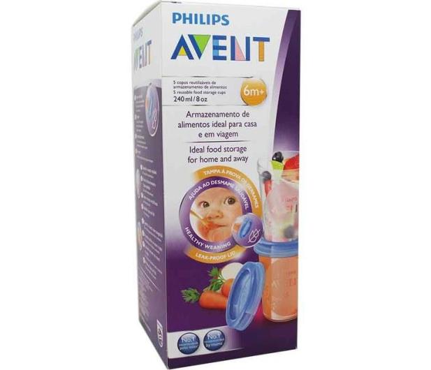 Philips Avent Pojemniki Na Pokarm VIA 240ml +Pokrywki 5szt - 321087 - zdjęcie 8