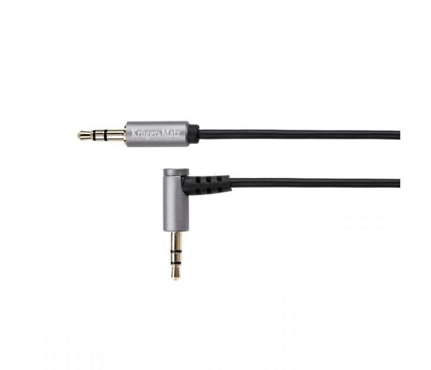 Kruger&Matz Wtyk kątowy - wtyk prosty Jack 3,5mm stereo 1,8m - 291466 - zdjęcie