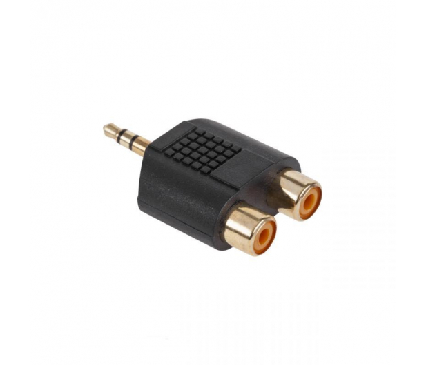 CABLETECH Złącze JACK 3.5-2xGN.RCA złote - 291508 - zdjęcie