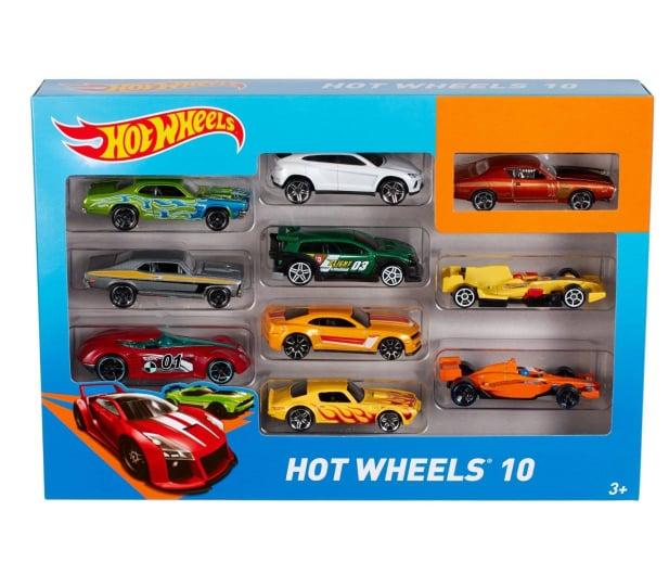Hot Wheels Zestaw samochodzików 10 pack - 283437 - zdjęcie