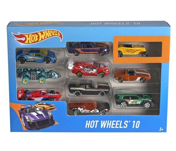 Hot Wheels Zestaw samochodzików 10 pack - 283437 - zdjęcie 2