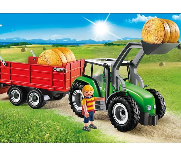 PLAYMOBIL Duży traktor z przyczepą - 301198 - zdjęcie 3