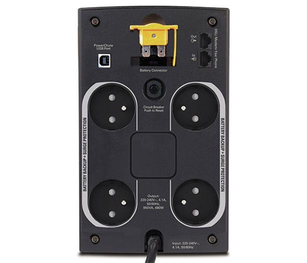 APC Back-UPS (950VA/480W, 4xFR, RJ-11, USB, AVR) - 260375 - zdjęcie 2
