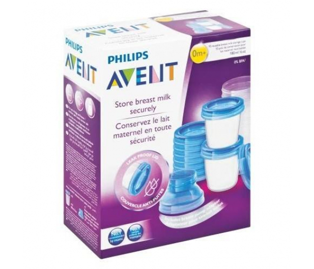Philips Avent Pojemniki Na Pokarm VIA 180ml +Pokrywki 10szt - 321085 - zdjęcie 5