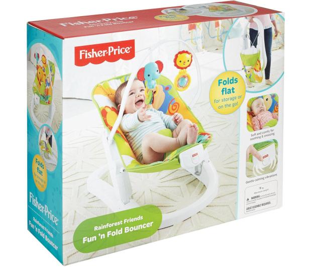 Fisher-Price Składany leżaczek z wibracjami - 323659 - zdjęcie 4