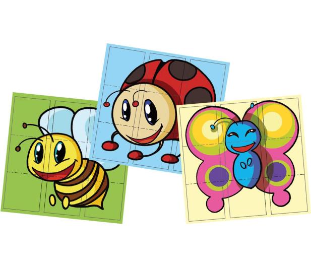 Dumel Discovery Motylek 3x układanka 67026  - 324616 - zdjęcie 4