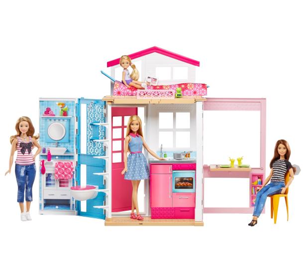 Barbie Duży Domek dla lalek z akcesoriami i lalką - 344589 - zdjęcie 2