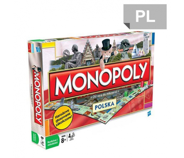 Hasbro Monopoly Polska - 162703 - zdjęcie