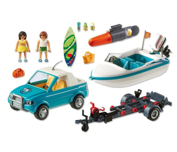 PLAYMOBIL Surfer-Pickup z motorówką - 344820 - zdjęcie 4