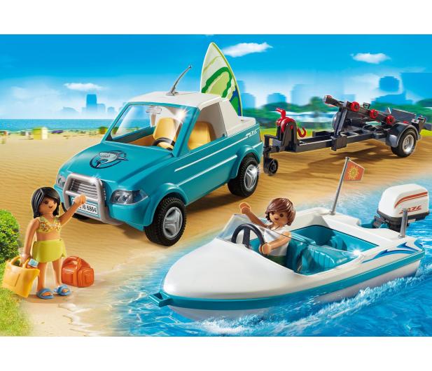 PLAYMOBIL Surfer-Pickup z motorówką - 344820 - zdjęcie 2