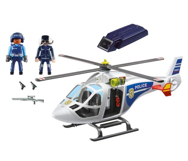 PLAYMOBIL Helikopter policyjny z reflektorem LED - 344866 - zdjęcie 4