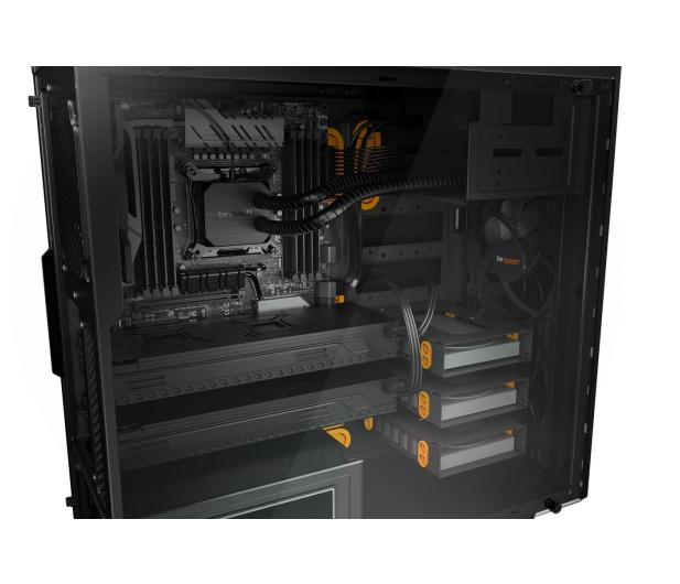 be quiet! Pure Base 600 czarno-pomarańczowa z oknem - 351875 - zdjęcie 4