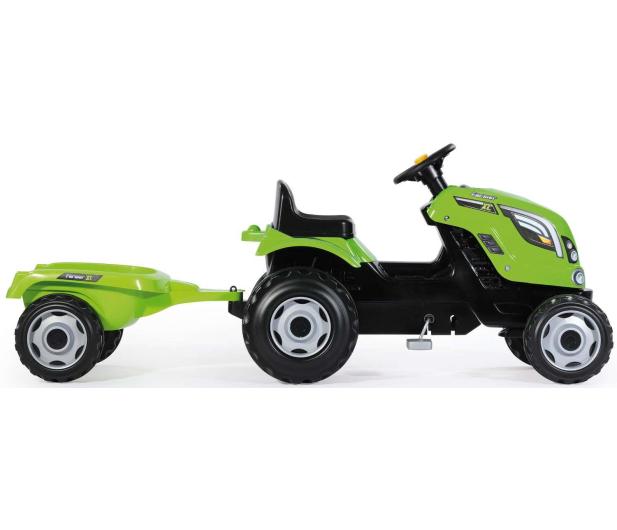 Smoby Traktor na pedały XL z przyczepą zielony  - 349282 - zdjęcie 5