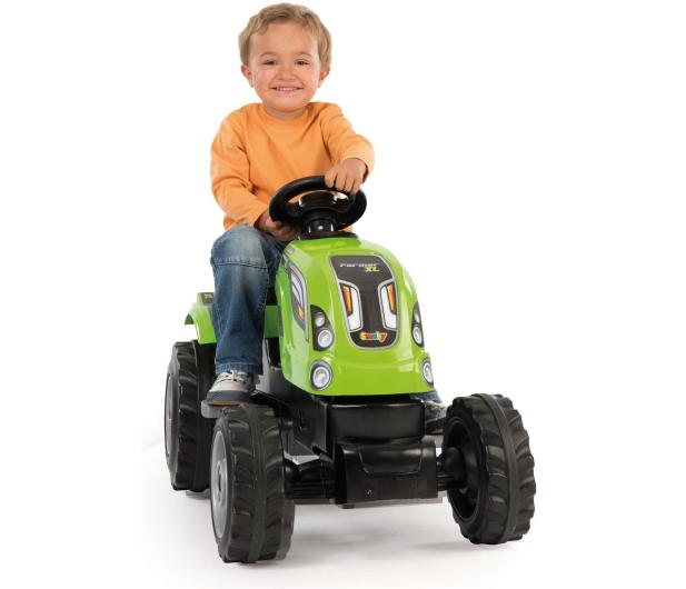 Smoby Traktor na pedały XL z przyczepą zielony  - 349282 - zdjęcie 4