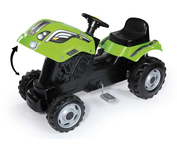 Smoby Traktor na pedały XL z przyczepą zielony  - 349282 - zdjęcie 2