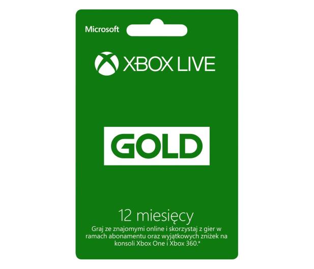 Microsoft Abonament Xbox Live GOLD 12 miesięcy (kod) - 162978 - zdjęcie