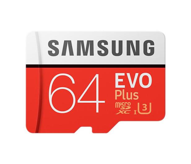 Samsung 64GB microSDXC Evo Plus zapis60MB/s odczyt100MB/s  - 360784 - zdjęcie
