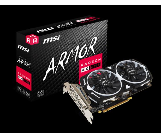 MSI Radeon RX 570 ARMOR OC 4GB GDDR5  - 361517 - zdjęcie