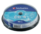 Verbatim 700MB/80min. Audio CD 52x DATA LIFE CAKE 10szt. (43437)
