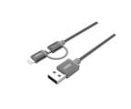 Unitek Kabel USB 2.0 - 2w1 micro USB i Lightning MFI, 1m (Y-C4031GY)