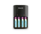 Philips Ładowarka akumulatorów AA / AAA + 4 x AA 2100mAh (SCB1490NB/12)