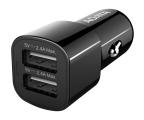 ADATA Ładowarka Samochodowa USB 2x2,4A 17W czarny (CV0172 )