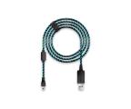 Lioncast microUSB do USB 2.0 4m (czarno-niebieski) (14764)