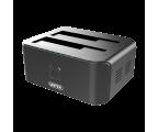 Unitek Stacja dokująca 2 x HDD USB 3.0 z klonowaniem (Y-3032)