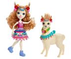 Mattel Enchantimals Lalka z dużym zwierzątkiem Lama (FKY72 FRH42)