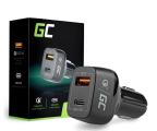 Green Cell Ładowarka Samochodowa USB-C, USB (QC 3.0) (CAD33)