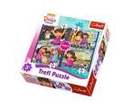Trefl 4w1 Dora i przyjaciele  (34265)