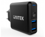 Unitek Ładowarka sieciowa 2x USB 2,4A + QC 3.0 60W PD (P1102A)