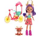 Mattel Enchantimals Wonderwood Danessa Deer na rowerze  (FJH11 GJX30)