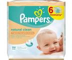 Pampers Chusteczki Nawilzane Natural Clean 6x 64szt (4015400689096 384szt)