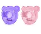 Philips Avent Smoczek Ortodontyczny 0-3m+ 2szt Różowy (SCF194/02 Soothie)
