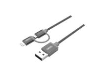 Unitek Kabel USB 2.0 - 2w1 micro USB i Lightning MFI, 1m - 373462 - zdjęcie 1